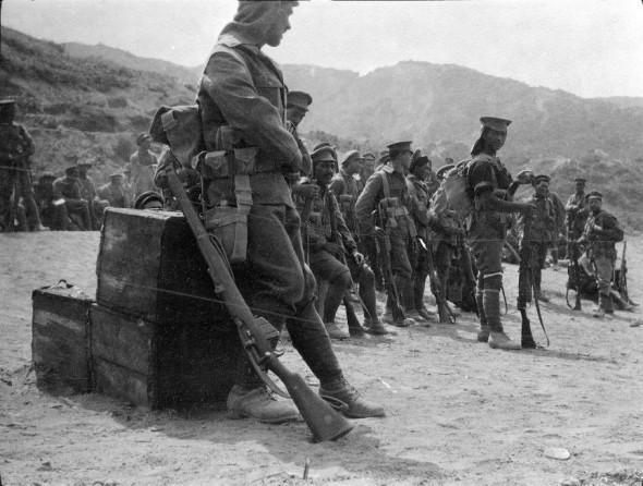 The Native Contingent. This is image is supposed to have been taken the morning of their arrival 3 June 1915