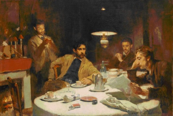 Willard Metcalf, The ten cent breakfast, 1887, oil on canvas, Denver Art Museum, 1974.418 (http://commons.wikimedia.org/wiki/File:Willard_Leroy_Metcalf_-_The_Ten_Cent_Breakfast_-_Google_Art_Project.jpg)