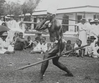 Niue Warrior Savage island (Niue) Henry Winkelmann- photographer