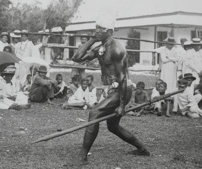 Niue Warrior Savage island (Niue) Henry Winkelmann- photographer