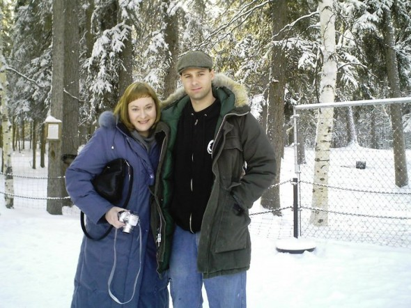 Ryan and Mom snow