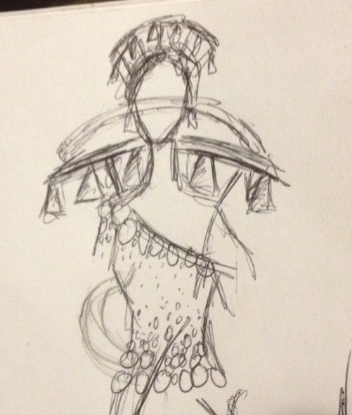 Sketch by Sean Purucker for Bells for Her. Courtesy of Sean Purucker.