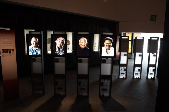 Living Portraits section of the Tangata o le Moana exhibition