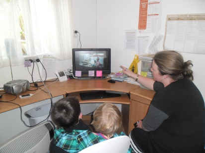 Viewing the sea birds video, Photographer: Imagine Childcare Centre, © Imagine Childcare Centre