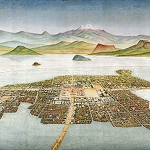 Island Capital of the Aztecs, Tenochtitlan (mural), Covarrubias, Luis (1919-1987) Museo Nacional de Antropologia, Mexico City, Mexico