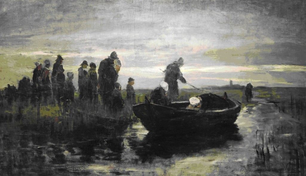 Petrus van der Velden, Marken Funeral Barge, 1890-1891, oil on canvas, Gift of the New Zealand Academy of Fine Arts, 1936 (1936-0012-113)