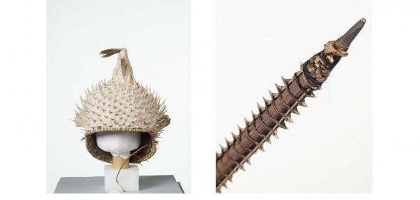 kiribati helmet and sword