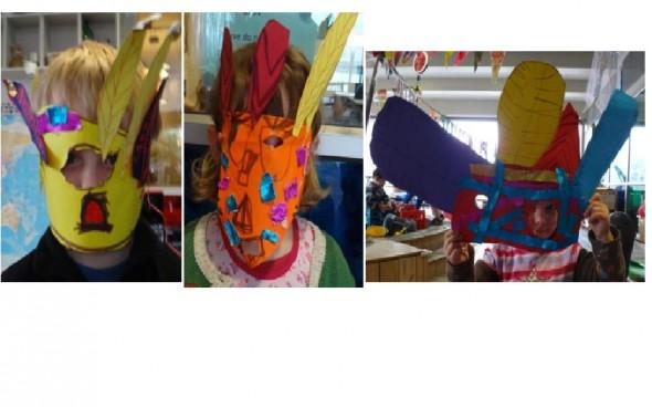Our Aztec Headdresses.Photographer: Tai Tamariki, © Tai Tamariki