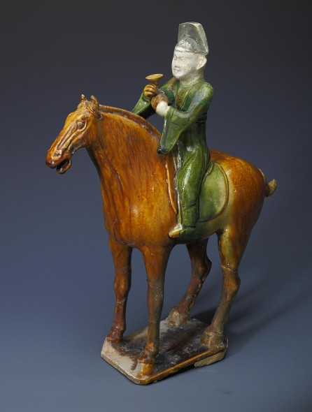 Tomb figure from a troupe of musicians on horseback, Tang dynasty (618–907). National Museum of China
