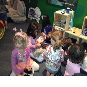 Preparing the cats for the show; Photographer: Premier Preschool, © Premier Preschool