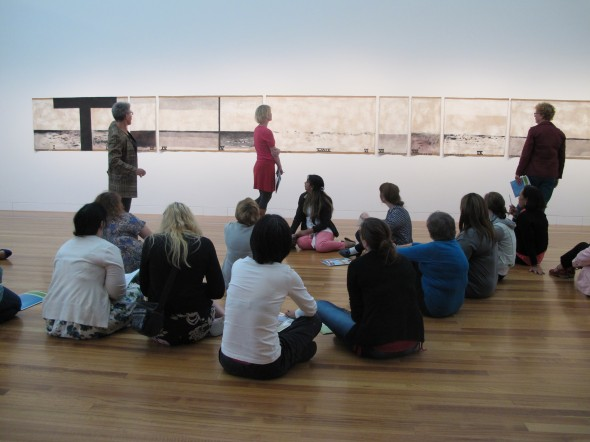 Jumping into the painting, Photographer: Te Papa and Lisa Terreni,  © Te Papa and Lisa Terreni