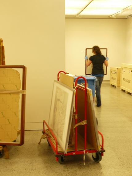 Collection manager, Andrea Hearfield, at work.