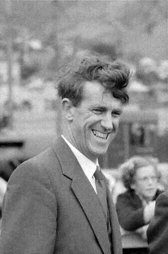 Sir Edmund Hillary at Lyttelton wharf, 1956. Photograph by Brian Brake. Gift of Mr Raymond Wai-man Lau, 2001. E.4424. Te Papa.