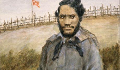 Robley, Horatio Gordon, 1840-1930. Robley, Horatio Gordon 1840-1930 :Taratoa, lay preacher. Killed at Te Ranga, 21st June 1864.. Ref: A-033-011. Alexander Turnbull Library, Wellington, New Zealand. http://natlib.govt.nz/records/22745838