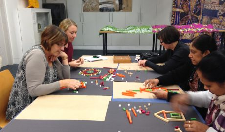 Creating Ephemeral Art with Cuisenaire rods, Photographer: Te Papa, © Te Papa