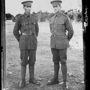 Copy of a portrait of two unidentified soldiers [inscribed Johnson]; 1914-1920; Berry & Co