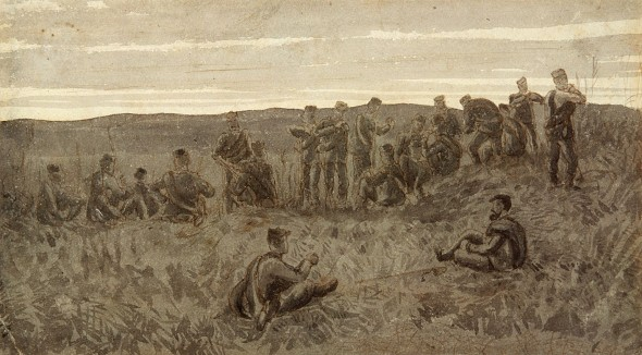 Horatio Gordon Robley Pen and ink, pencil and wash 178x255mm Purchased 1905