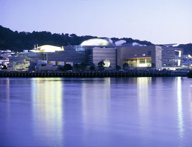 Image of Te Papa from Wellington Harbour