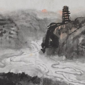 Shi Lu, Horses drinking at Yan River – study from nature, 1960, ink and mineral pigments, Beijing: National Museum of China, Gift of Shi Lu's family 2012
