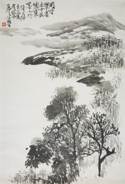 Shi Lu, In response to Shi Tao's painting, 1960, chinese painting on paper, Beijing: National Museum of China, Gift of Shi Lu's family 2012