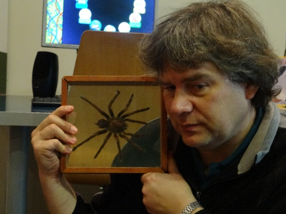 Phil and his tarantula! Photographer: Newtown Kindy,  © Newtown Kindy