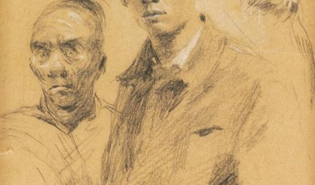 Shi Lu, 自画像, Self-portrait 1951, pencil drawing, Beijing: National Museum of China, reproduced courtesy of Shi Lu's family.