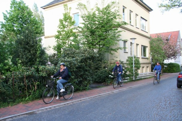 One of the daily pleasures I will miss about living in Oldenburg, Germany: cycling around town. Photo by Mauricio López.