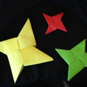 Woven star shaped whaka huia (treasure containers)