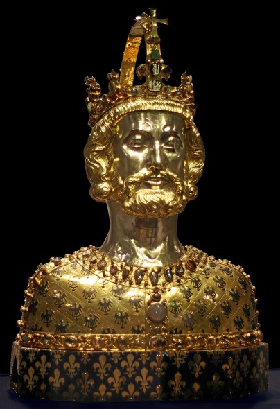 Bust of Charlemagne, c. 1350, Aachen Cathedral Treasury (Wikimedia Commons)