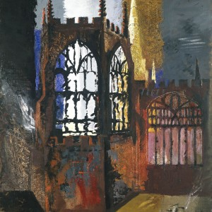 John Piper Coventry Cathedral 1940 © Crown Copyright, Manchester City Galleries