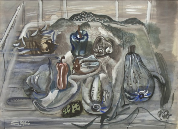 Frances Hodgkins Pumpkins and Pimenti, 1935 (Fletcher Trust Collection, Auckland)