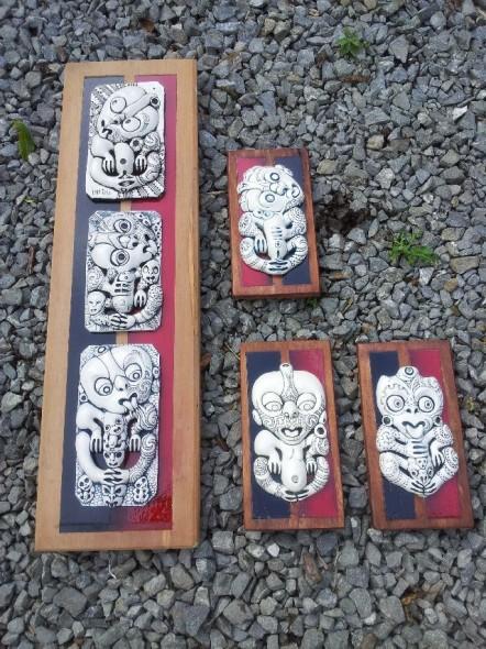Hone Moriarty - tiki series for Te Huka a Tai display