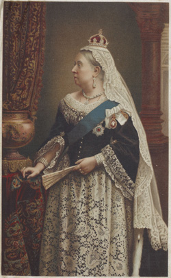 Souvenir portrait, Queen Victoria, about 1901, London, by Walery. Gift of the late June Starke, 2009. Te Papa (GH016438)