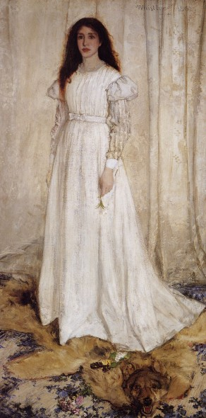 James Whistler, Symphony in White No. 1: The White Girl, 1861-62.  National Gallery of Art, Washington.  (Wikimedia Commons)