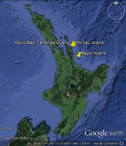 Locations in coromandel