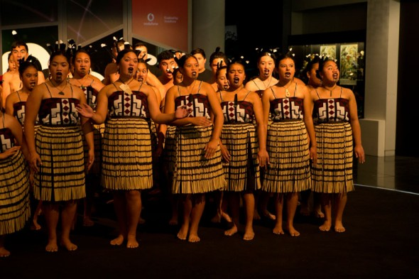 Te Kura Maori o Porirua kapahaka. Photo by Norman Heke
