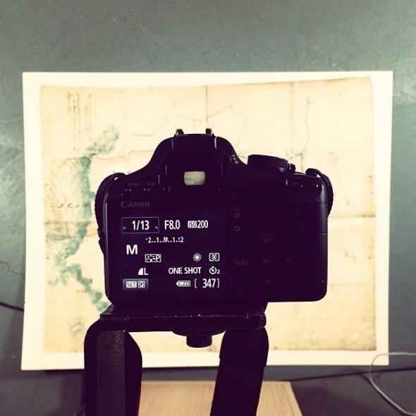 A birds-eye-view of the imaging process. Photograph by Riah King-Wall. © Te Papa