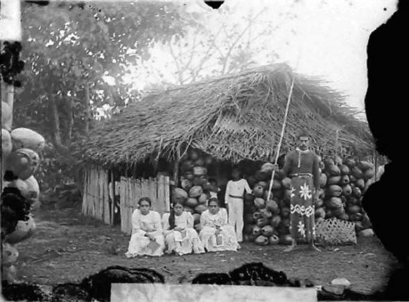 Rarotongan Coffee Palace , circa 1914, Cook Islands. Crummer, George. Te Papa