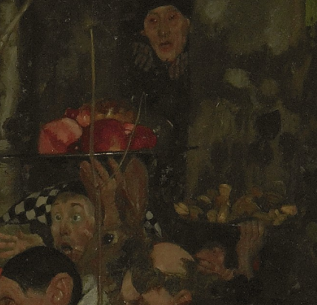 Frank Craig, Goblin market (detail of self-portrait), 1911