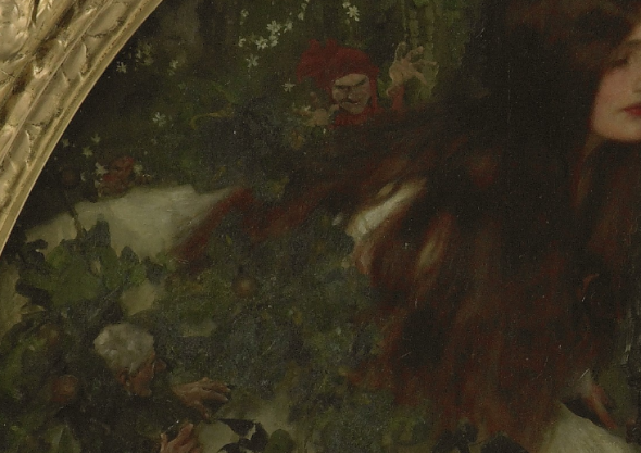Frank Craig, Goblin market (detail of goblins), 1911
