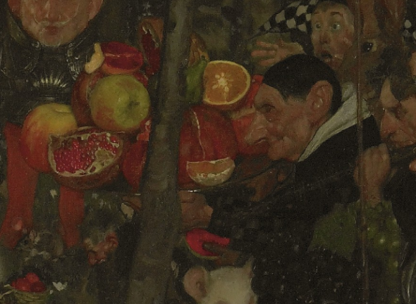 Frank Craig, Goblin market (detail of fruits), 1911