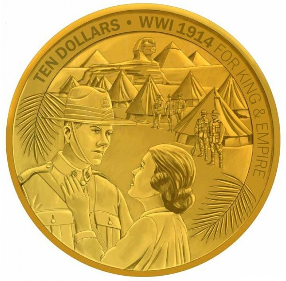Gold Proof Coin – The Great Adventure Begins. Courtesy New Zealand Post