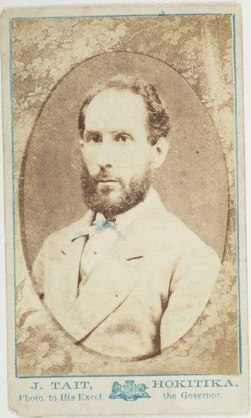 Man with a beard, 1870s, Hokitika. John Tait. Purchased 1999 with New Zealand Lottery Grants Board funds. Te Papa O.021498