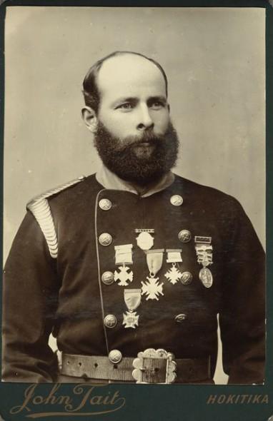 William Braddon, Lieutenant of the Hokitika Fire Brigade, 1895, Hokitika. John Tait. Te Papa O.022204