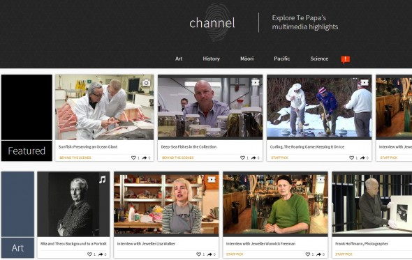 Te Papa Channel is now live!