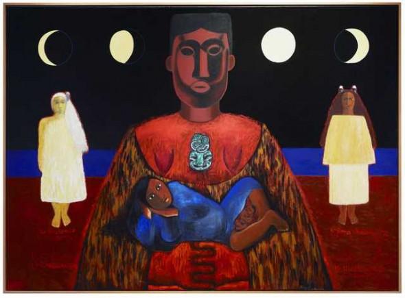 Ko hine te iwaiwa, ko hine korako, ko rona whakamau tai, 1993, New Zealand. Kahukiwa, Robyn. Purchased 1995 with New Zealand Lottery Grants Board funds. Te Papa