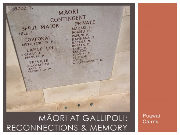 Photograph of the Māori Contingent names on the Chunuk Bair memorial at Gallipoli