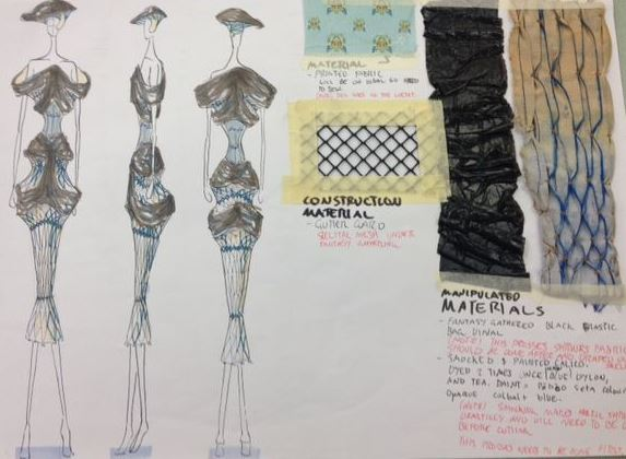 Christoph  s final design and material samples.