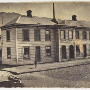 E. S. Richards, Original Post Office, Featherston Street, circa 1865,