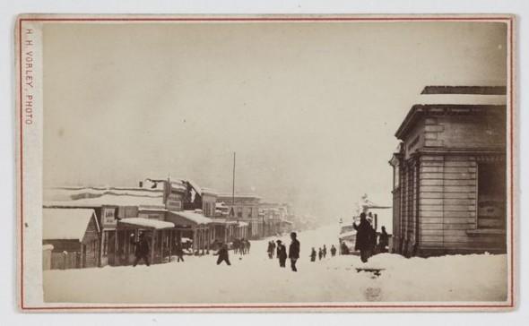 Herbert Henry Vorley, Reefton, Winter, circa 1875, Reefton. Gift of Mrs E W Gibbs, 1933. Te Papa